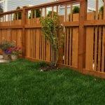 деревянный забор установка